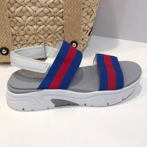 Marc Fischer Red White and Blue Nelson Sandals